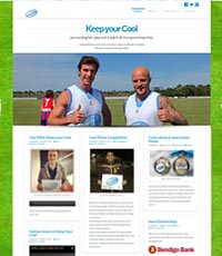 keep your cool website design, responsive